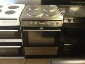 Silver 60cm electric cooker (fan oven)