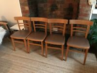 Retro kitchen/dining chairs x4 vintage pvc seats