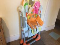 Chicco Polly 2 in 1 Baby High Chair (original box,manual & accessories)