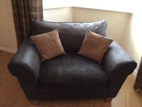 Brown right hand corner unit with love seat