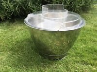 Kenwood chef stainless steel bowl and clear lid