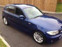 Bargain 2006 bmw 120i m-sports blue full leathers 120k full mot drives perfect cheap car £2595