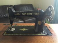 Singer sewing table antique cast iron