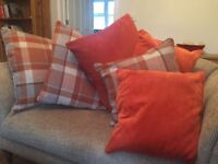 NEXT Ginger Spice Matching Curtains & Cushions