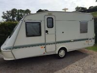 Elddis Vogue Tornado 5 berth Caravan with awning and more on Paid Seasonal Pitch in Devon