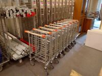 11 x WHOLESALE/DIY STORE TROLLEYS, UNBRANDED AND READY TO WORK £700