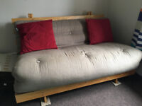 Futon Company Two Seat Sofa Bed Light Brown