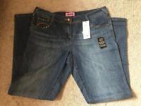 Brand New George Boyfriend Style Jeans - Size 14