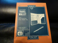 Stanley Leather Travel Wallet and Pen
