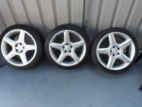 """3 x 18"""" inc Mercedes Alloy wheels 5x112"""