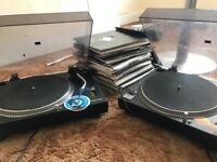 Turntables And Over 100 Vinyls