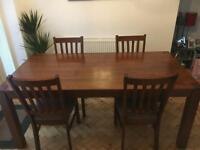 Dining room table with x4 chairs
