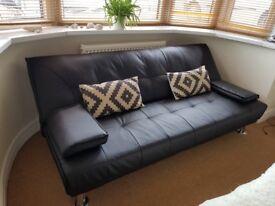 Sofa+ cushions + furry carpet for sale
