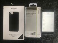 Apple iPhone 6 64 Gb Silver includes Brand New Black Leather Case and Tempered Glass Screen Cover