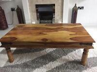 Rustic real wood coffee table