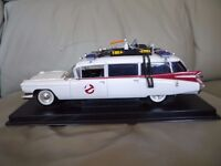 Die cast Ghost Busters Car on Wooden base