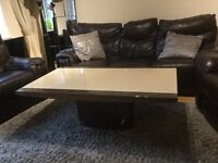 DFS solid marble coffee table brown beige colour very good condition