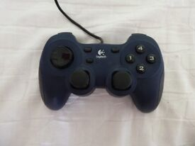 Logitech Dual Action Gaming Controller Navy and Black in Good Condition