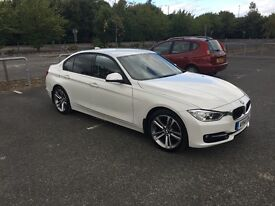 BMW 318D SPORT in metallic white, 18 inch alloy wheels, £30 road tax, excellent car, low mileage