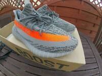 Adidas Yeezy Boost 350 V2 UK 11 Grey/Beluga- Solar Red REAL with PROOF