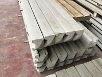 Concrete post, gravel boards, fence panels