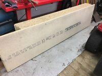 Unused 1 inch chipboard x 9 boards