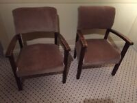 Chairs, a pair