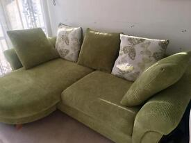 Lime green 4 seater corner sofa from DFS