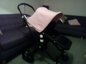 Bugaboo pram , good condition , inc cosy toes and rain cover