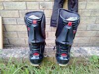 RST TracTech Evo CE waterproof Motorcycle Race boots UK 12 EU 47 + Box