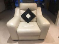 3 set reclining leather sofas - practically NEW!