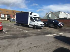 Mercedes sprinter curtain sider Luton box