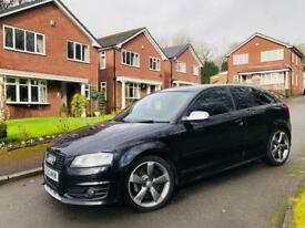 AUDI S3 BLACK EDITION TFSI S TRONIC DSG 2011+NAPPA LEATHER+SATNAV+RE-MAP+EXHAUST SOUND AWESOME**
