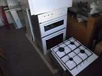 Free Kitchen cabinets if you buy Built in Oven and Grill and Gas Hob!