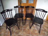 4 chairs for sale ��10.00 each in excellent condition.