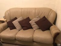 three seater sofa two chairs(one chair has cigarette burn shown in pictures)