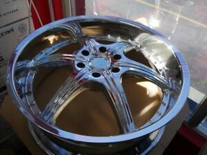 22 INCH BRAND NEW CHROME RIMS 6X135 - DEEP DISH - WHEEL BLOW OUT
