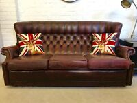 Vintage barrel back Chesterfield sofa, armchair also available. Can deliver