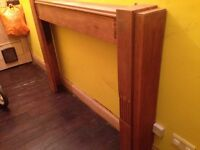 Art Deco large wood fire place - honey oak