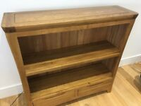 Rustic solid oak book case