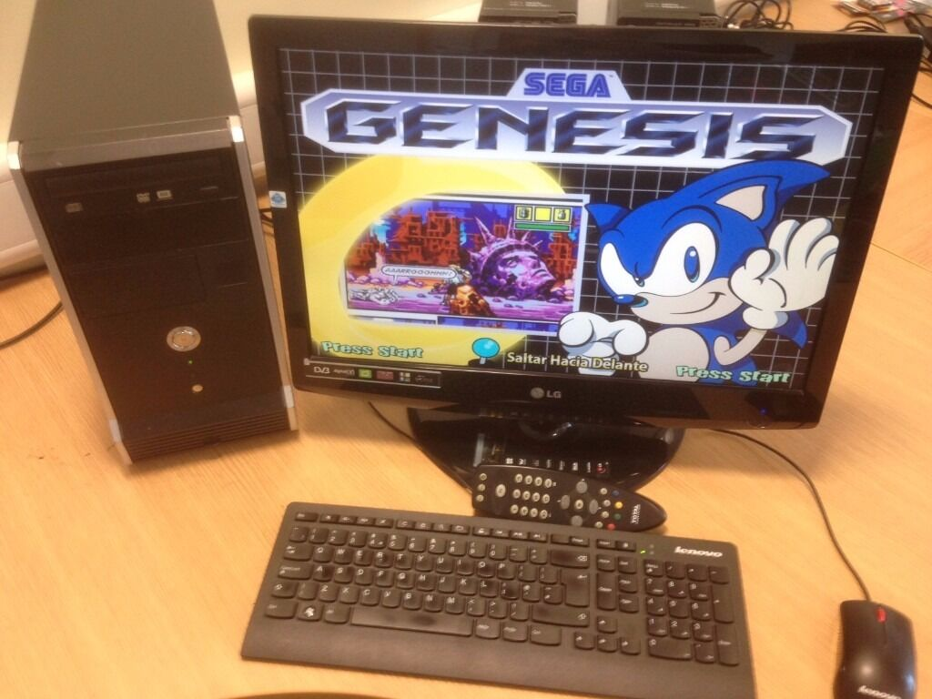 """Cheap computer with HDTV (Freeview, Remote, 3 x HDMi, USB etc) Display with Hyperspin Retro Gamesin Blackpool, LancashireGumtree - Pentium Dual Core CPU E5300 @ 2.60GHz 4.0 Gb RAM 250 Gb Hard disk DVD RW WiFi 22"""" HDTV Display with Freeview, 3 x HDMi, USB and Remote Keyboard and Mouse Windows 10 64Bit MS Office Hyperspin Emulator with 100s of Retro Games"""