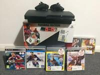 PS3 with 2 controllers & 6 Games