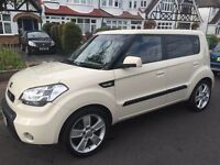 """KIA SOUL LOW MILEAGE IMMACULATE 12MONTHS MOT, SUNROOF, PARKING CAMERA, 18 """" ALLOYS, TINTED WINDOWS"""