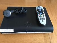 Sky +HD box with built in WiFi connection and remote