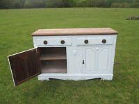 Shabby Chic Kitchen Sideboard / Cupboard Unit Edwardian Period