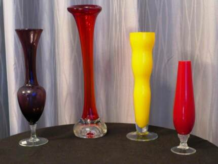 Small Red Vase And Glass Vases Bowls Gumtree Australia