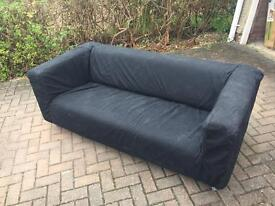 Ikea Klippan sofa with black removable cover