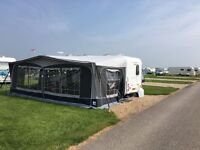 Dorema President XL280 size 18 caravan awning in grey and carpet