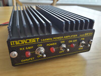 Microset 144MHz Power Amplifier mod.SR100 preowned in good working order. FM or SSB with RX amp