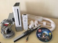 Wii Games Console + Controller + Harry Potter Game